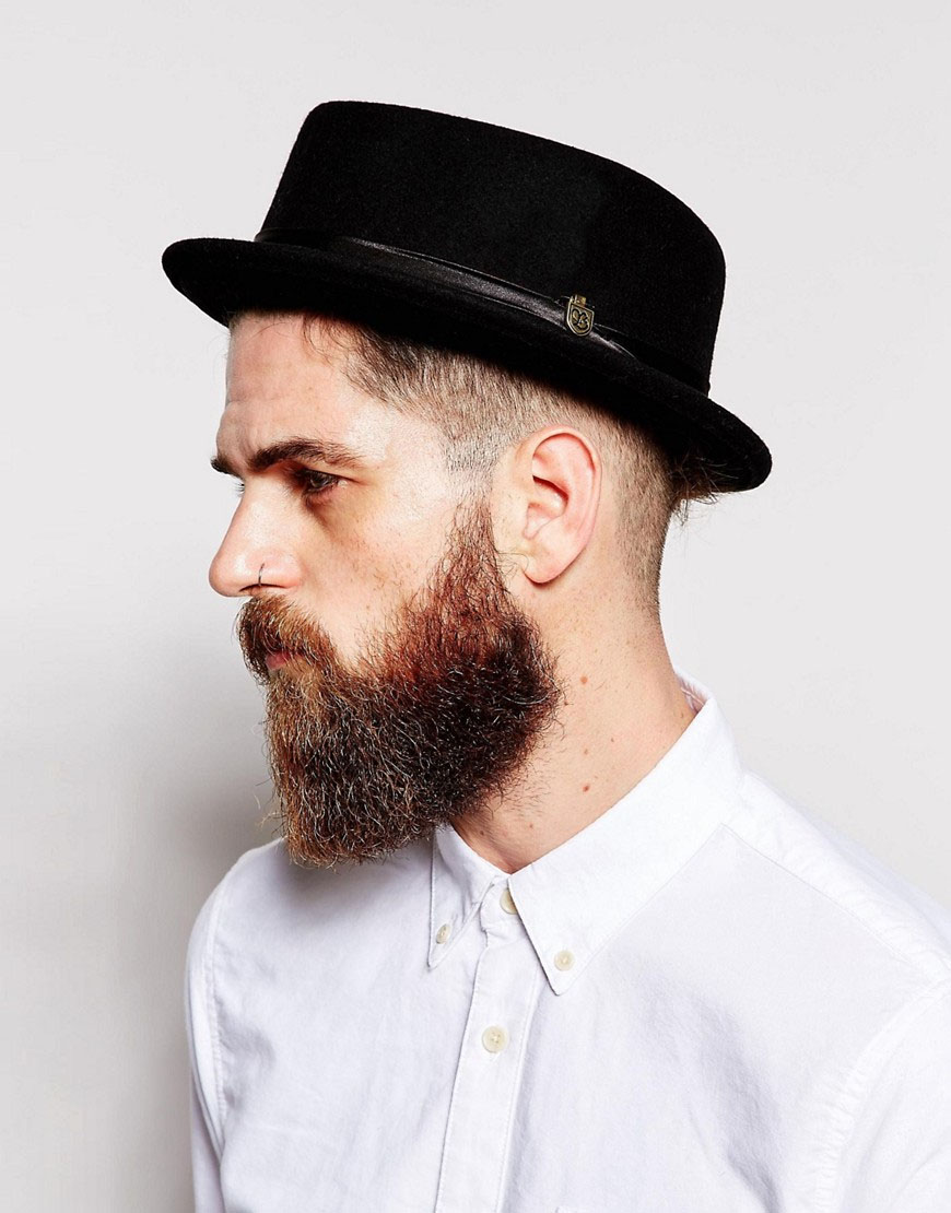 Stout Pork Pie Hat by Brixton- BLACK (Sale price!)