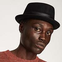 Stout Pork Pie Hat by Brixton- BLACK