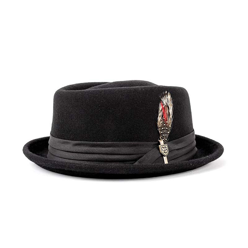 c25169d3cdfe7 Stout Pork Pie Hat by Brixton- BLACK. »