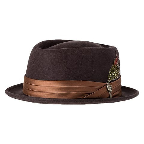Stout Pork Pie Hat by Brixton- CHOCOLATE (Sale price!)