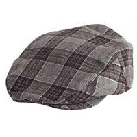 Barrel Hat by Brixton- Grey/Brown Plaid (Sale price!)
