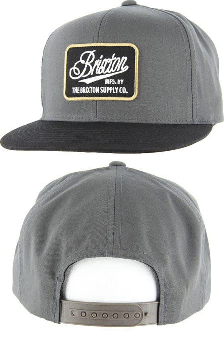 Boulder Snap Back Hat by Brixton- CHARCOAL/BLACK (Sale price!)
