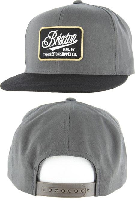 Boulder Snap Back Hat by Brixton- CHARCOAL/BLACK
