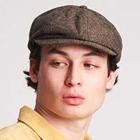 Brood Hat by Brixton- Brown/Khaki Herringbone
