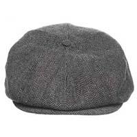 Barrel Hat by Brixton- Grey/Black Herringbone (Sale price!)