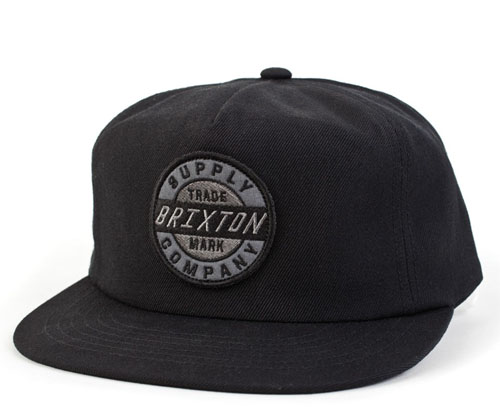 Council Snap Back Hat by Brixton- BLACK (Sale price!)