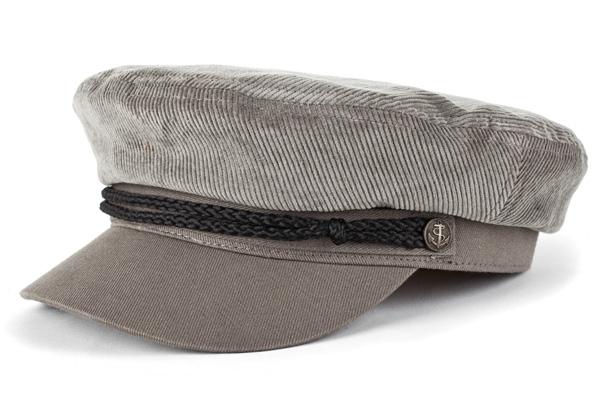 Fiddler Hat by Brixton- Grey Corduroy (Sale price!) 46187ed18e0