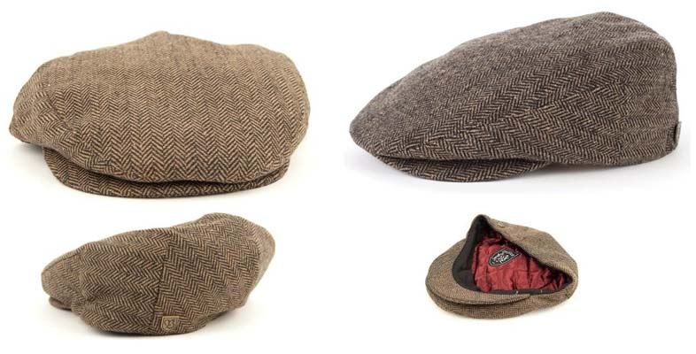 7fb002fb2c7 Hooligan Hat by Brixton- BROWN   KHAKI HERRINGBONE
