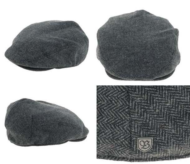 79efd90a94e Hooligan Hat by Brixton- GREY   BLACK HERRINGBONE