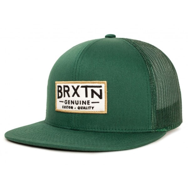 Dunning Trucker Hat by Brixton- FOREST GREEN