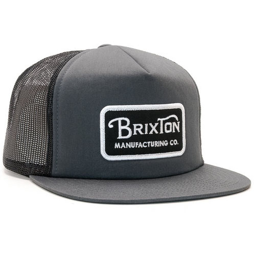 Grade Trucker Hat by Brixton- BLACK / CHARCOAL (Sale price!)