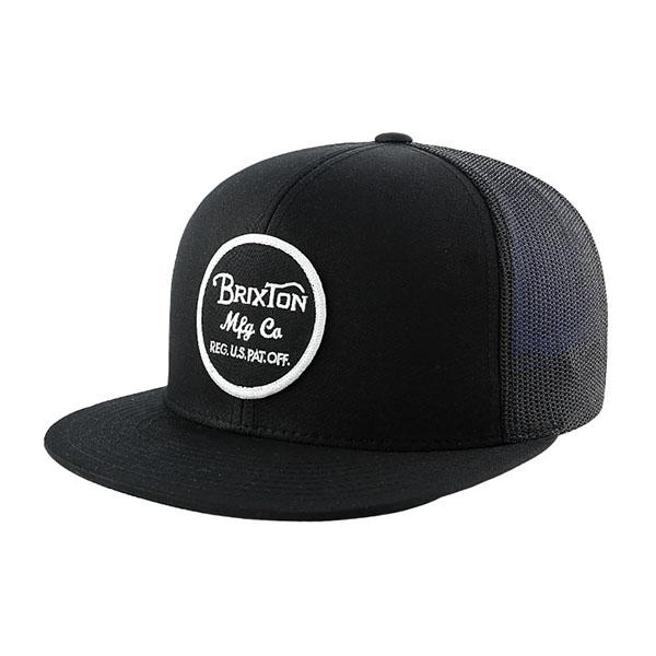 Wheeler Trucker Hat by Brixton- BLACK (Sale price!)