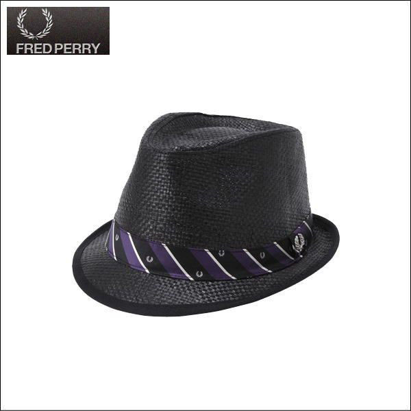 straw trilby hat black by fred perry sale price fred perry. Black Bedroom Furniture Sets. Home Design Ideas
