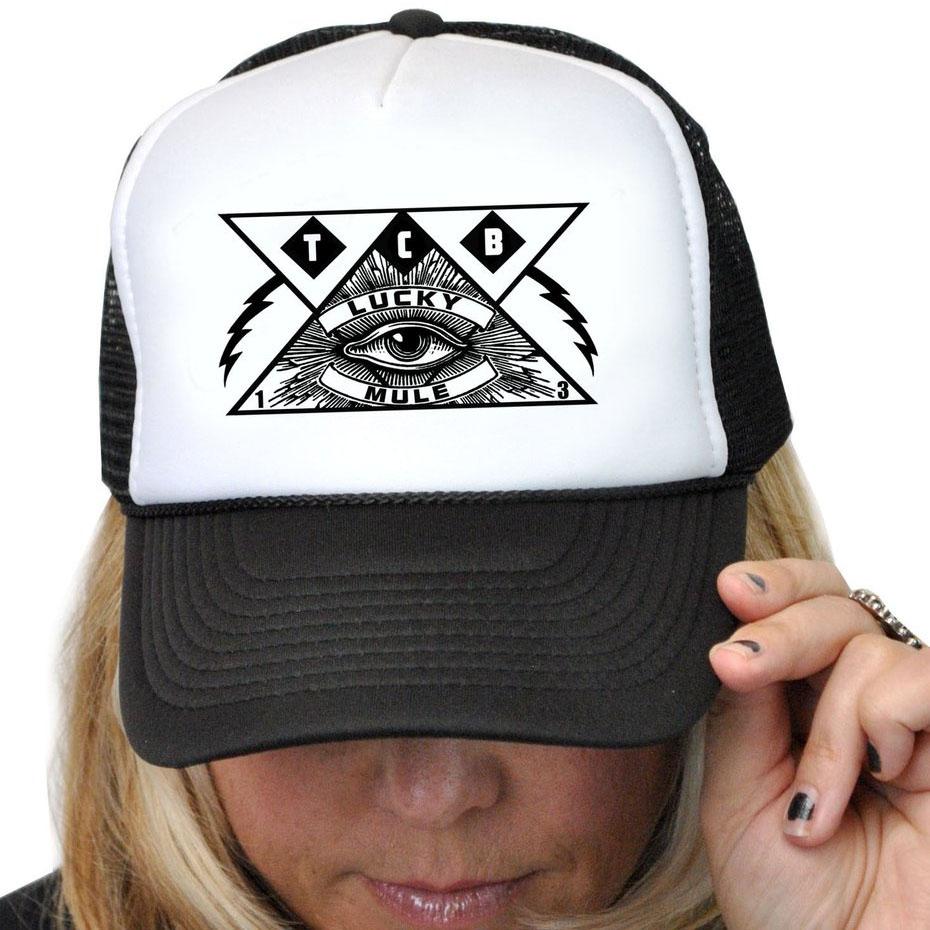 All Seeing Eye Trucker Hat by Lucky Mule