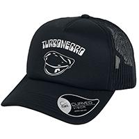 Turbonegro- Logo on front, Erection under brim on a black trucker hat (Import)