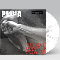 Pantera- Vulgar Display Of Power LP (White And Metal Grey Vinyl)