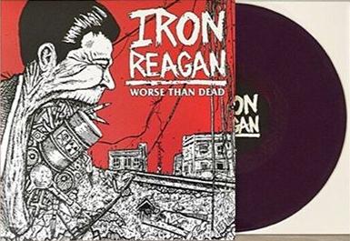 Iron Reagan- Worse Than Dead LP (Purple Vinyl)