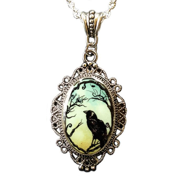Cameo Crow Necklace by Alkemie