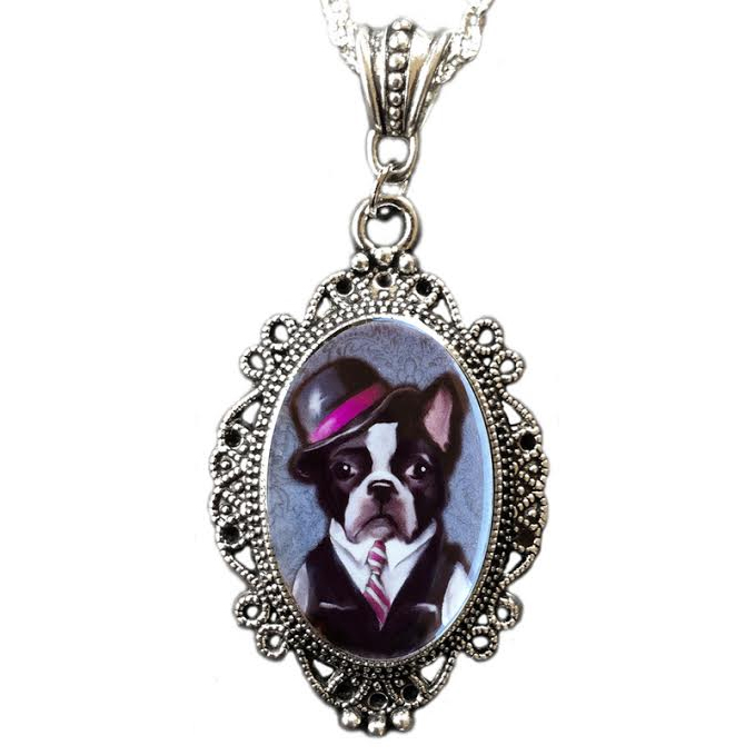 Fancy Pants Cameo Necklace by Alkemie