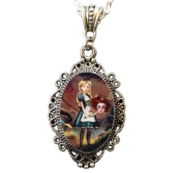 Off With Her Head Cameo Necklace by Alkemie
