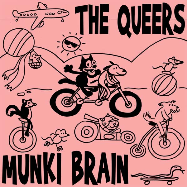 Queers- Munki Brain LP (Ltd Ed Hand Screened Cover, Each Copy #'d /300)