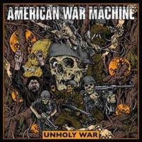 American War Machine- Unholy War LP (Agnostic Front, Blood For Blood, Slapshot) (Color Vinyl)