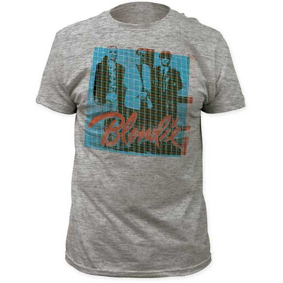 Blondie- Grid Pic on a heather grey ringspun cotton shirt (Sale price!)