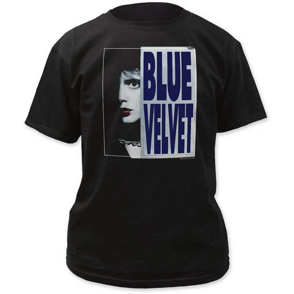 Blue Velvet- Face on a black shirt (Sale price!)