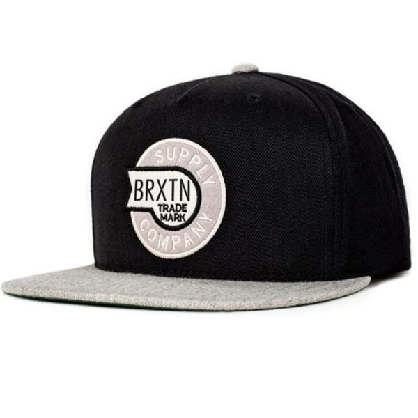 Sledd Snap Back Hat by Brixton- BLACK / LIGHT HEATHER GREY (Sale price!)