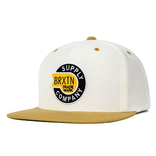 Sledd Snap Back Hat by Brixton- WHITE / GOLD (Sale price!)