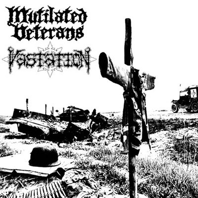 "Mutilated Veterans / Vastation- Split 7"" (Sale price!)"