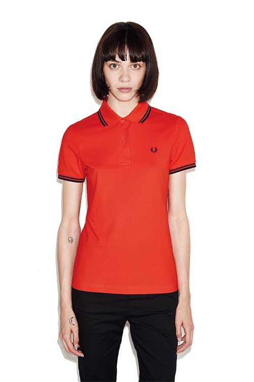 Fred perry twin tipped girls polo shirt flame girls shirts for Polo shirt girl addiction