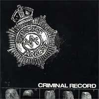 "Violent Arrest- Criminal Record 2x7"" (Sale price!)"