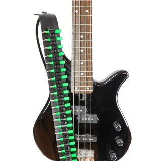 Bullets Guitar Strap by Funk Plus (Green Bullets)