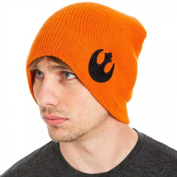 Star Wars- Rebel Alliance on an orange winter hat (Sale price!)