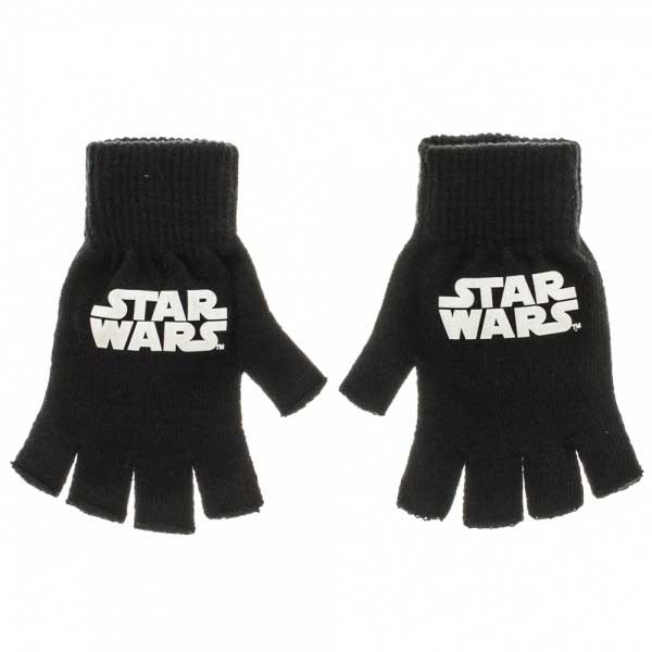Star Wars- Logo on Black Fingerless Gloves (Sale price!)