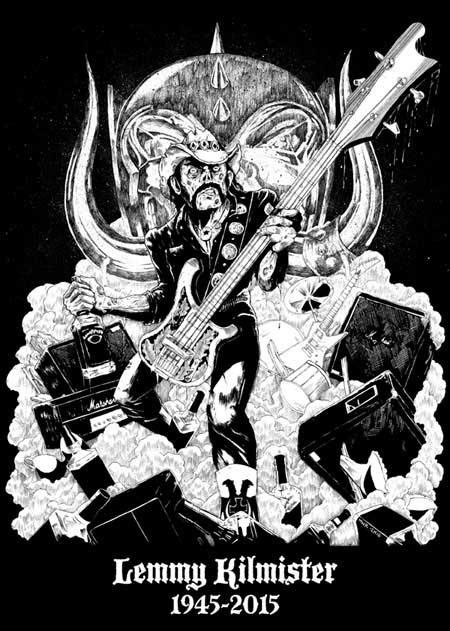 Motorhead- Lemmy Kilmister, 1945-2015 on a black hooded sweatshirt