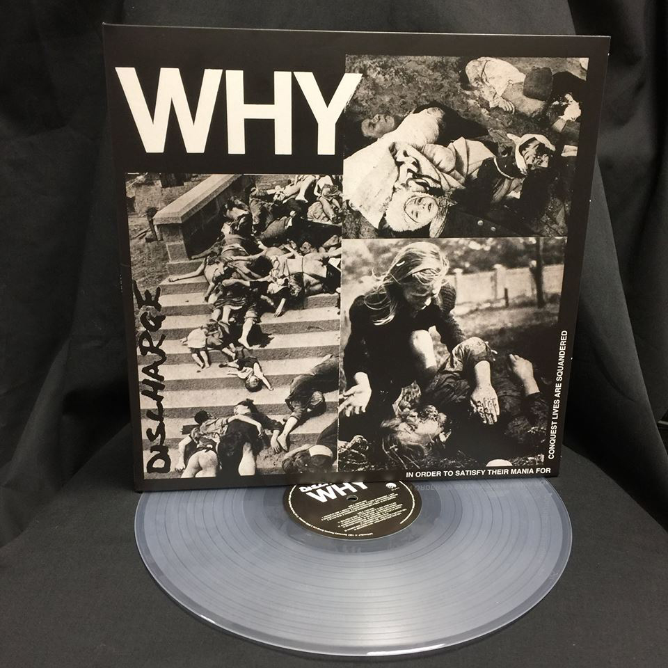 Discharge- Why LP (Clear Vinyl) (UK Import!)