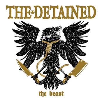 Detained- The Beast LP (Black/White/Gold Tri-Color Vinyl) (Sale price!)