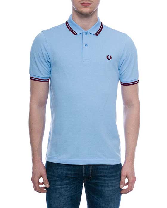 fred perry slim fit polo shirt soft blue sale price. Black Bedroom Furniture Sets. Home Design Ideas