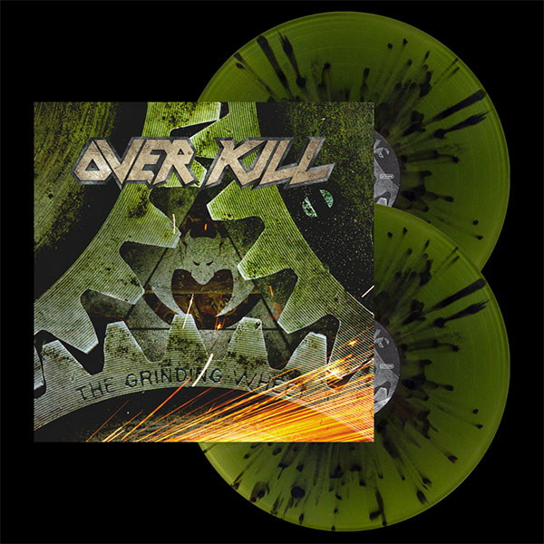 Overkill- The Grinding Wheel 2xLP (Swamp Green With Black Splatter Vinyl)