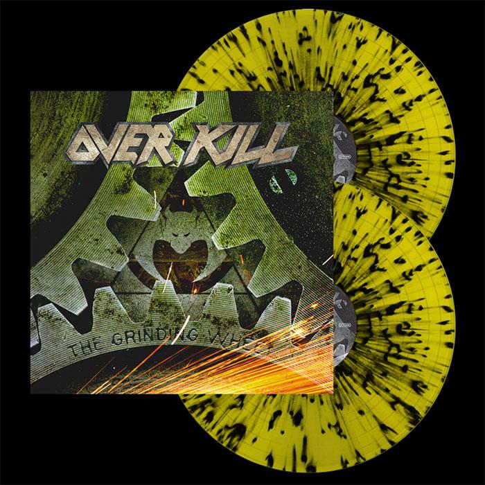 Overkill- The Grinding Wheel 2xLP (Yellow With Black Splatter Vinyl)