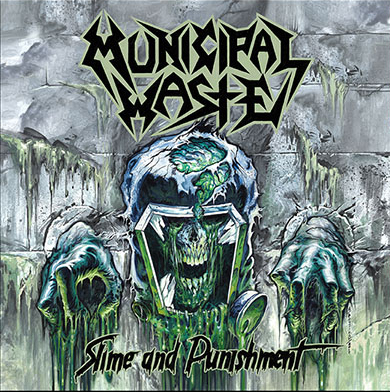Municipal Waste- Slime And Punishment LP (Green With Yellow Splatter Vinyl)