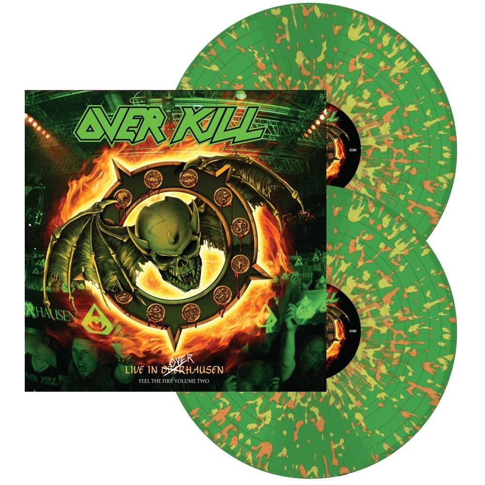 Overkill- Feel The Fire Volume Two: Live In Overhausen 2xLP (Green With Orange And Yellow Splatter Vinyl)