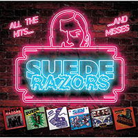 Suede Razors- All The Hits...And Misses LP (Clear With Hot Pink & Cyan Splatter Vinyl)