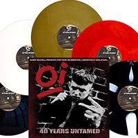 V/A- Garry Bushell Presents, Oi, 40 Years Untamed LP (White Vinyl)
