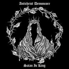 Antichrist Demoncore- Satan Is King LP (Gold With Black Swirl Vinyl)