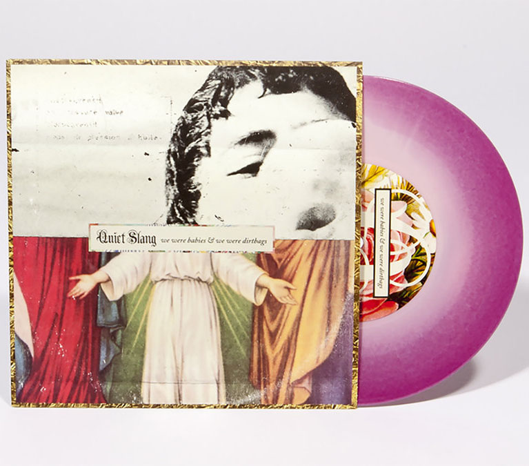 "Quiet Slang (Beach Slang)- We Were Babies And We Were Dirtbags 7"" (Pink & Purple Vinyl) (Sale price!)"