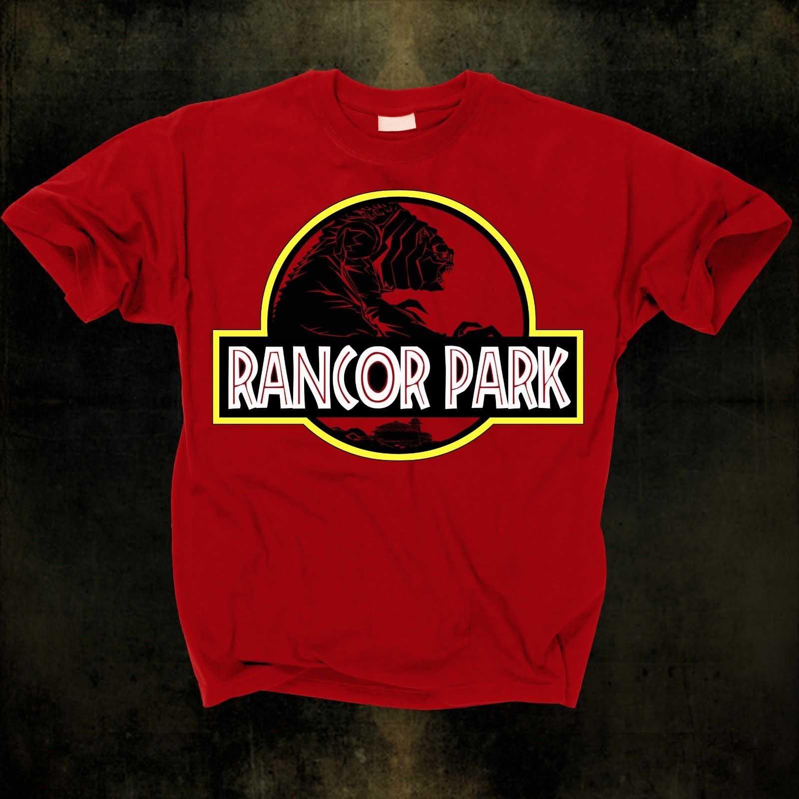 b8483bef Star Wars- Rancor Park on a red shirt (Star Wars & Jurassic Park ...
