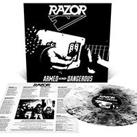 Razor- Armed And Dangerous LP (Black & White Galaxy Vinyl)